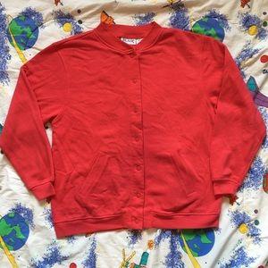 Vintage 80s Pink Bomber Jacket